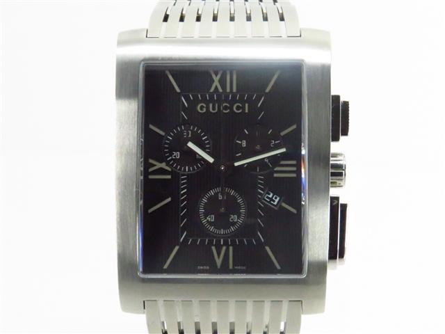 GUCCI グッチ 時計 クオーツ 8600M クロノ ステンレス 142.0g【203】【中古】【大黒屋】
