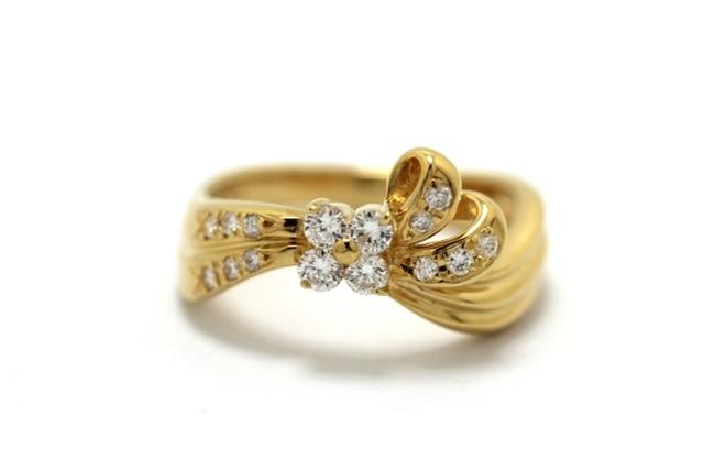JEWELRY ノンブランドジュエリー デザイン リング 指輪 K18 ダイヤモンド 0.33ct 12号 【460】【中古】【大黒屋】