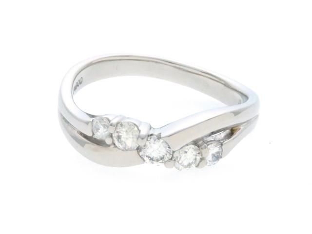 【送料無料】JEWELRY ノンブランドジュエリー デザインリング 指輪 PT900 ダイヤモンド 0.40ct 11.5号 【436】【中古】【大黒屋】