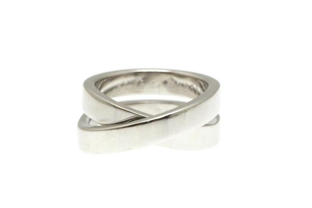 【送料無料】Cartier カルティエ リング 指輪 パリリング ホワイトゴールド 51号 【412】【中古】【大黒屋】