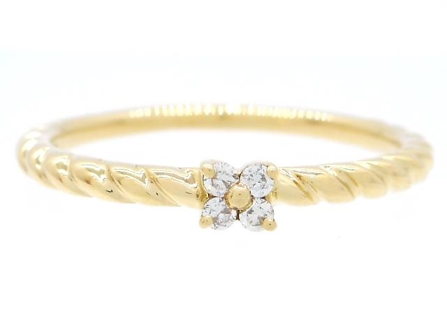 4℃ ヨンドシー 貴金属・宝石 リング 指輪 K18 イエローゴールド ダイヤモンド 8号 【204】【中古】【大黒屋】