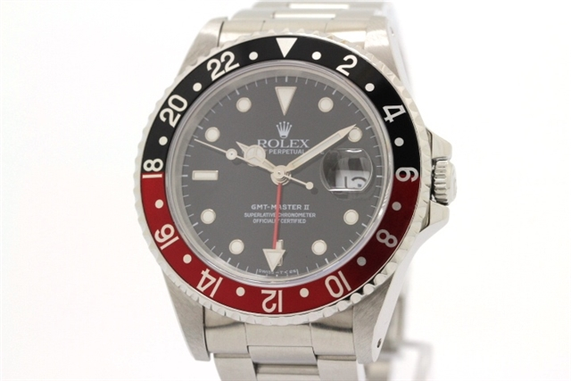 【送料無料】ROLEX ロレックス GMTマスター2 16710 SS コーク トリチウム S番 オートマチック 【460】【中古】【大黒屋】