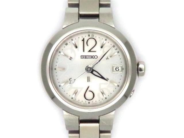SEIKO セイコー 時計 ルキア SSVW015 20周年記念 電波時計 SS ホワイト文字盤 レディース 【450】【中古】【大黒屋】