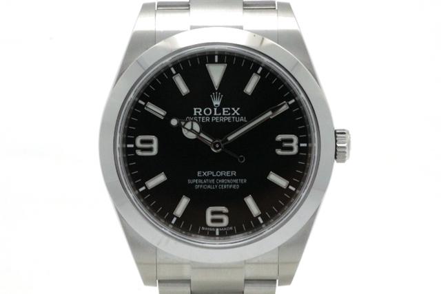 【送料無料】ROLEX ロレックス エクスプローラー1 214270 SS ランダムシリアル ブラック369 オートマチック クロマライト 並行 2019年 メンズ 【472】【】【大黒屋】