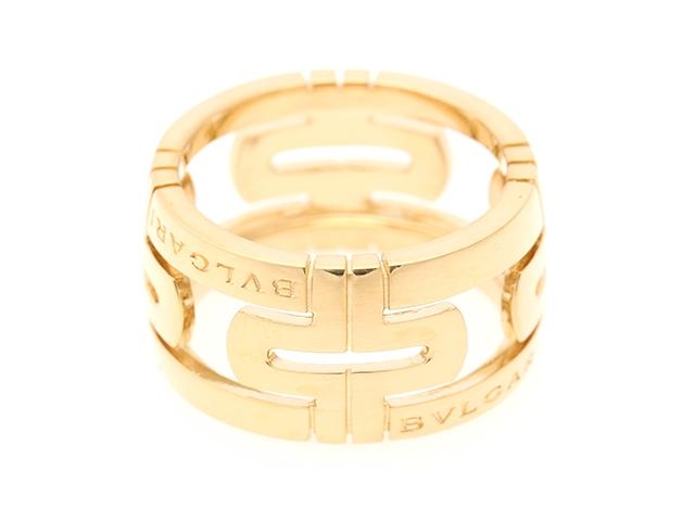 【送料無料】BVLGARI ブルガリ パレンテシ リング 指輪 ワイド イエローゴールド 54号 【437】【中古】【大黒屋】