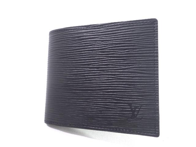 【送料無料】LOUIS VUITTON ルイ・ヴィトン 財布 二つ折り財布 ポルトフォイユ・マルコ エピ ノワール M62289【471】【中古】【大黒屋】