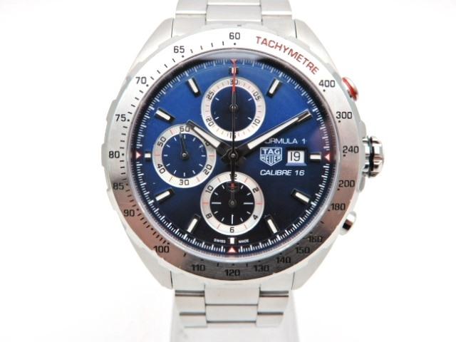 【送料無料】TAG HEUER 時計 フォーミュラ1 クロノ CAZ2015-0 オートマチック SS ブルー文字盤【439】【中古】【大黒屋】