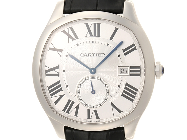 【送料無料】Cartier カルティエ ドライブドゥカルティエ WSNM0004 SS ステンレス/革 シルバー文字盤 オートマチック【472】【中古】【大黒屋】