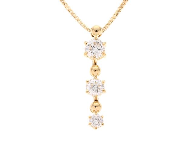 【送料無料】星の砂 ネックレス K18 ダイヤモンド 0.63ct 【460】【中古】【大黒屋】
