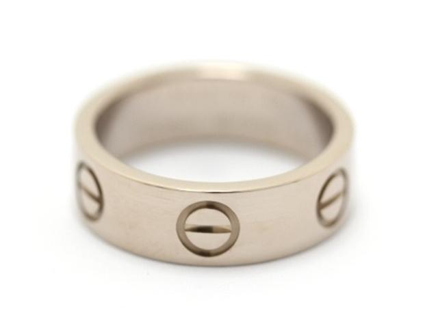 【送料無料】Cartier カルティエ ラブリング リング 指輪 WG 48号 【460】【中古】【大黒屋】