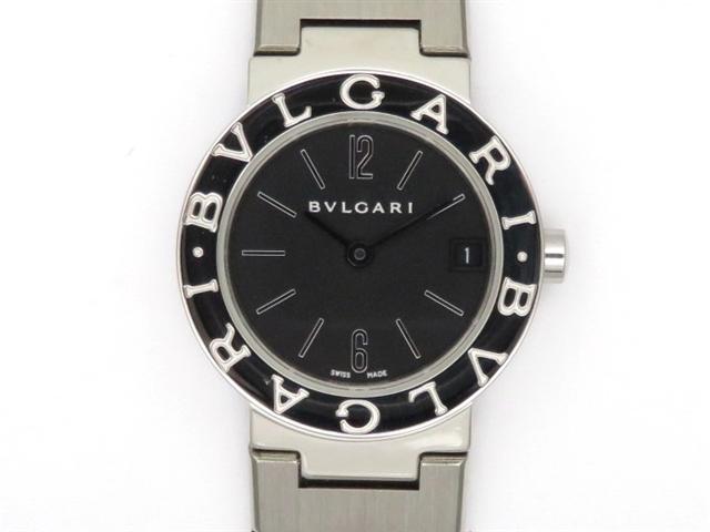 【送料無料】BVLGARI ブルガリ 時計 ブルガリ・ブルガリ BB23 SS ブラック クオーツ レディース 【438】【中古】【大黒屋】