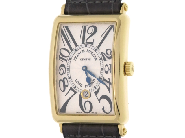 【送料無料】FRANCK MULLER フランクミュラー 時計 ロングアイランド 1150SCDT YG/革 オートマチック ホワイト メンズ 【438】【中古】【大黒屋】