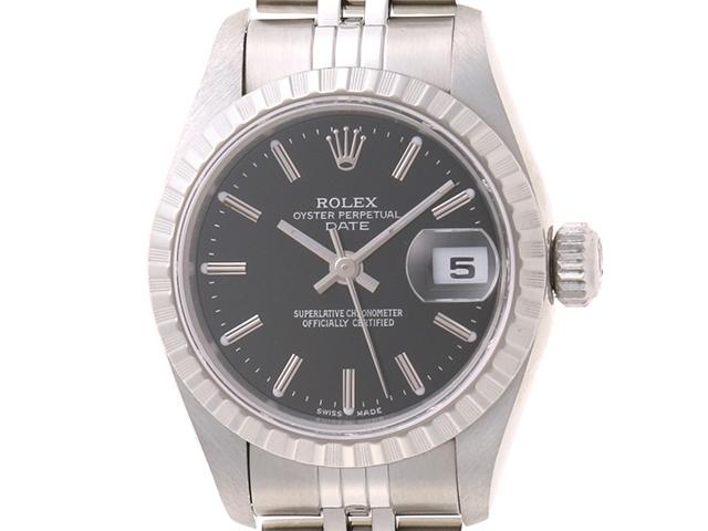 【送料無料】ROLEX ロレックス デイト 79240 SS ブラック オートマチック P番 【460】【中古】【大黒屋】