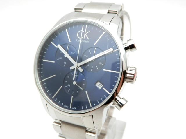 Calvin Klein 時計 クオーツ カルバン・クライン ステンレス ブルー文字盤【439】【中古】【大黒屋】