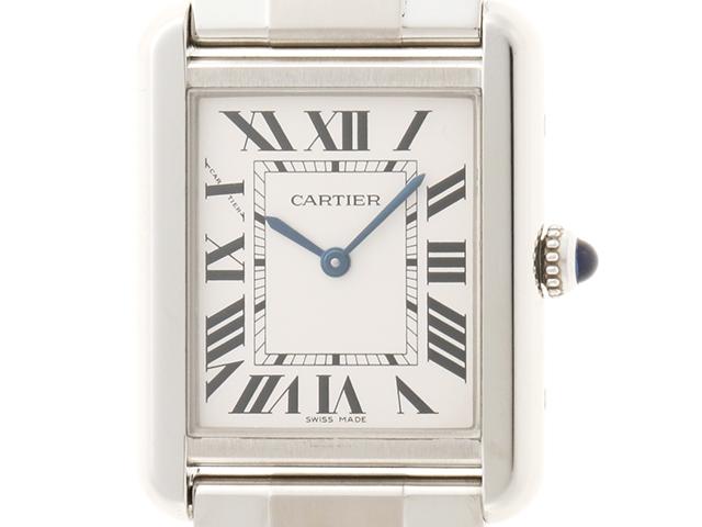 【送料無料】Cartier カルティエ タンク・ソロSM W520013 ステンレス クオーツ 【204】【中古】【大黒屋】