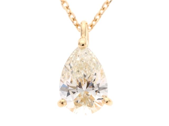 【送料無料】TASAKI タサキ ダイヤモンド ネックレス マーキスカット K18 0.70ct 【460】【中古】【大黒屋】