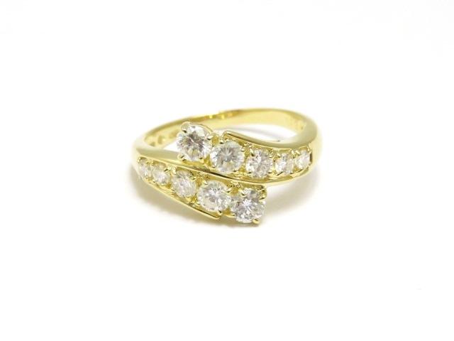 【送料無料】JEWELRY ノンブランドジュエリー K18 ダイヤモンド リング 13号 【472】【中古】【大黒屋】