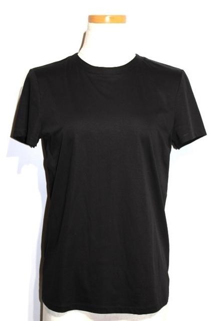 【送料無料】CHANEL シャネル Tシャツ レディース 36 ブラック コットン ココマーク P55399K07251 定価¥178,200- 2016年【200】【中古】【大黒屋】