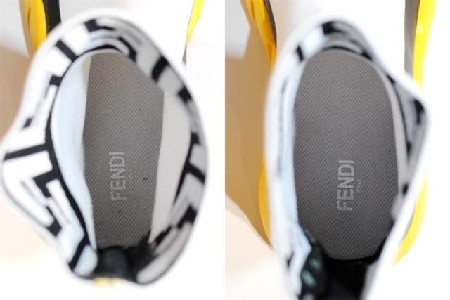 FENDI フェンディ ソックススニーカー シロ/クロ/イエロー テクニカルニットファブリック 8 【432】【大黒屋】