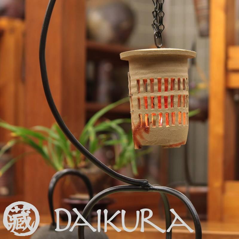 備前焼 灯籠 日本伝統工芸士 小川秀藏作