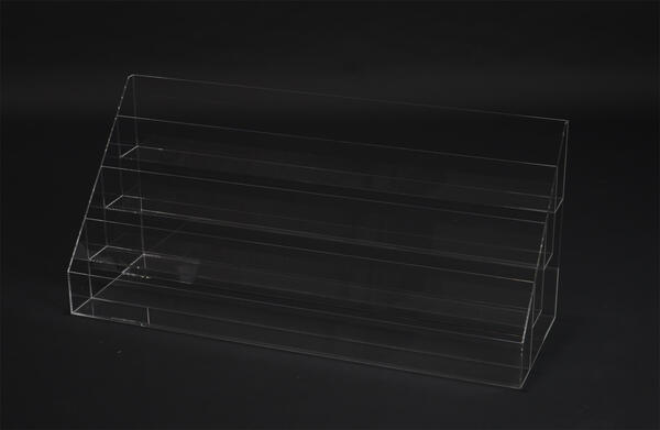 アクリル はがき スタンド 大【W890xD300xH400・透明・1列4段】ハガキ 年賀状 カタログ 同人誌 ハンドクラフト ギャラリー カフェ/ 展示 ディスプレイ 陳列 什器 販売促進