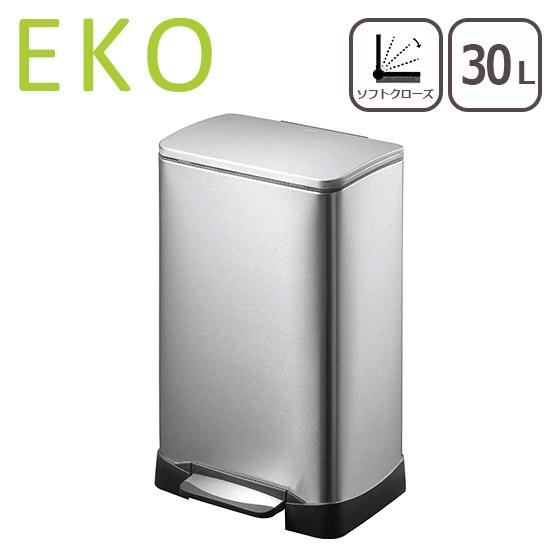 【Max1,000円OFFクーポン】EKO ゴミ箱 30L ネオキューブ ステップビン シルバー ダストボックス イーケーオー ふた付き