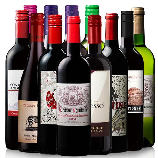 ポイント10倍!世界赤白デイリーワイン飲み比べ12本セット ワインセット 赤ワイン 白ワイン 北海道・沖縄は別途962円加算