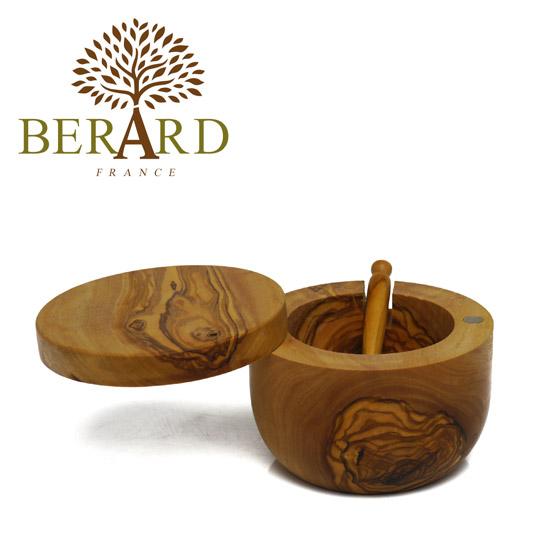 BERARD(ベラール) オリーブウッド ソルトキーパー (スクープ付) 90068 木製 食器