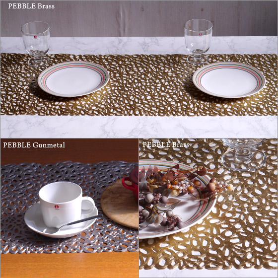 High Quality Chilewich Table Runner Pebble ♪ 2 Colors To Choose From CHILEWICH PEBBLE