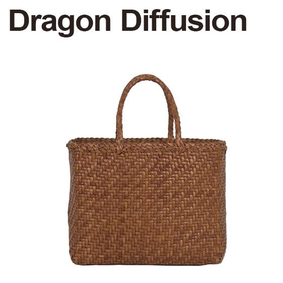 ドラゴンディフュージョン Dragon Diffusion レザーメッシュ トートバッグ 8807 45 Basket SMALL Tan 北海道・沖縄は別途962円加算