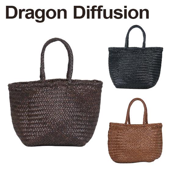 ドラゴンディフュージョン Dragon Diffusion レザーメッシュ トートバッグ 8813 Grace Basket SMALL 選べるカラー 北海道・沖縄は別途962円加算