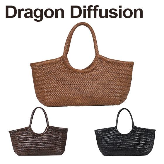 ドラゴンディフュージョン Dragon Diffusion レザーメッシュ トートバッグ 8822 Nantucket Basket 選べるカラー