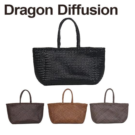 Dragon バッグ 【Max1,000円OFFクーポン】ドラゴンディフュージョン Dragon Diffusion レザーメッシュ トートバッグ 8856 Grace Basket BIG 選べるカラー 北海道・沖縄は別途962円加算