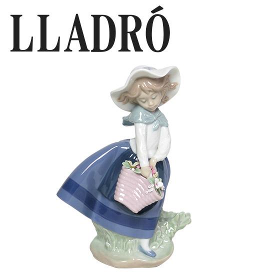 リヤドロ 人形 少女置物 LLADRO きれいな花ばかり 5222 ギフト・のし可 北海道・沖縄は別途540円加算