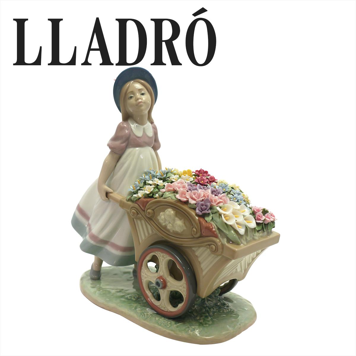 リヤドロ かわいいお花屋さん 陶器人形 LLADRO 可愛いお花屋さん 6521 少女 オブジェ 置物 磁器製品 フィギュリン ギフト・のし可