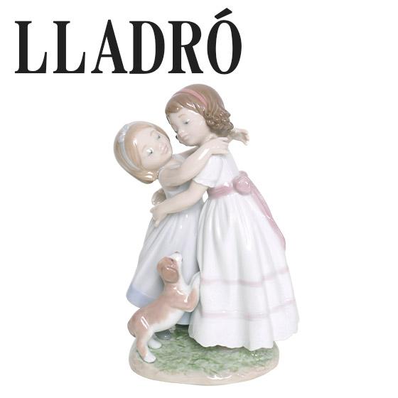 リヤドロ 少女置物 人形 LLADRO 仲良しのごあいさつ 8046 ギフト・のし可