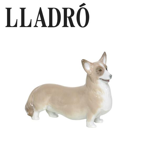 【Max1,000円OFFクーポン】リヤドロ 犬 動物 LLADRO ウェルシュ・コーギー 8339 可愛い 記念品プレゼント 景品 ギフト・のし可