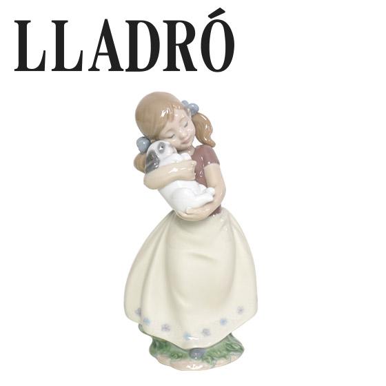 リヤドロ 少女置物 人形 犬 LLADRO かわいい! 8531 ギフト・のし可 北海道・沖縄は別途540円加算
