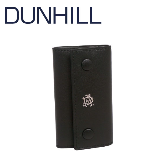 b5e9f3a06413 【3%OFFクーポン】DUNHILL(ダンヒル)REEVES レザー キーケース L2XR51A ブラック