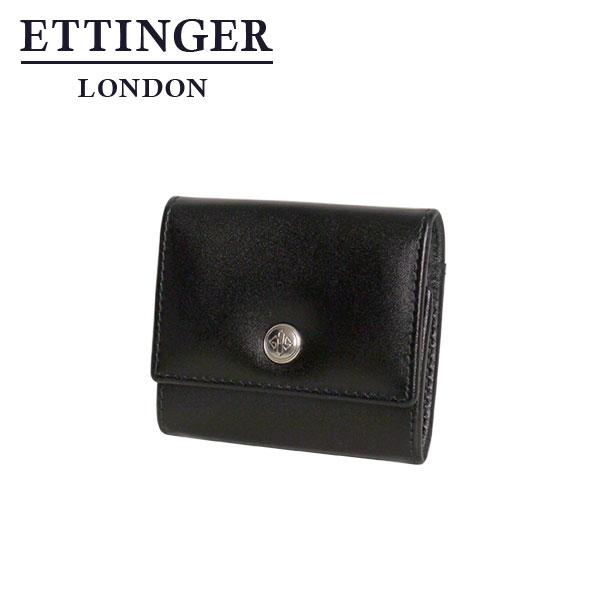 エッティンガー◆ETTINGER パープル コレクション ST145JR 三つ折り小銭入れ ブラック/パープル ギフト・のし可