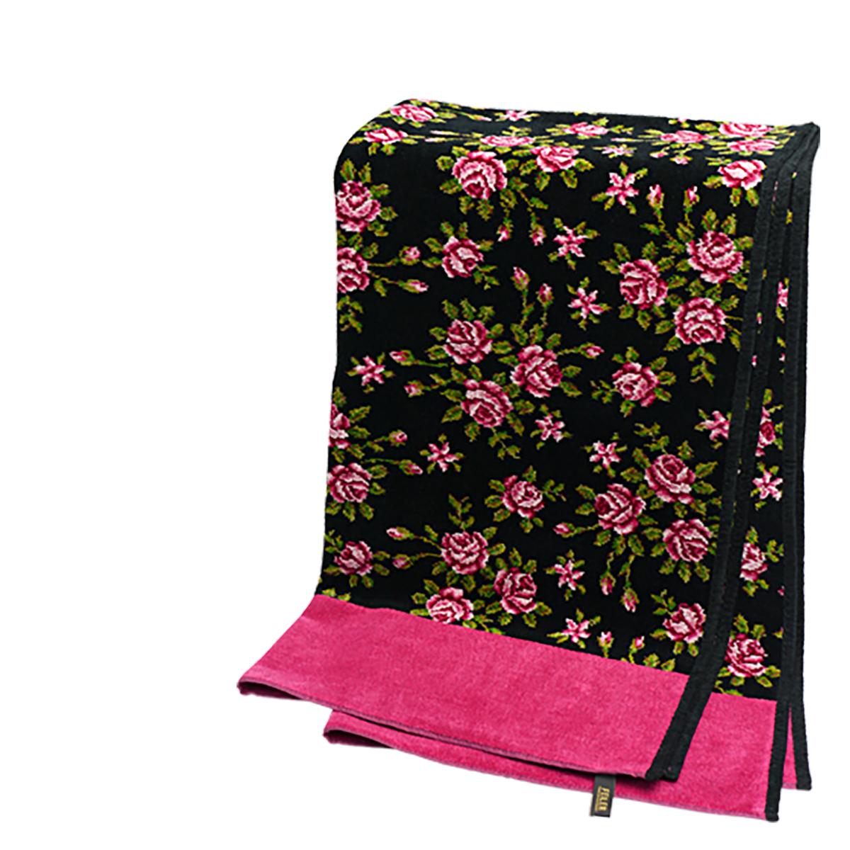 【Max1,000円OFFクーポン】フェイラー バスタオル ミリアム ブラックチェリー FEILER 75x150cm FEILER Chenille Bath Towel Miriam Black ギフト・のし可