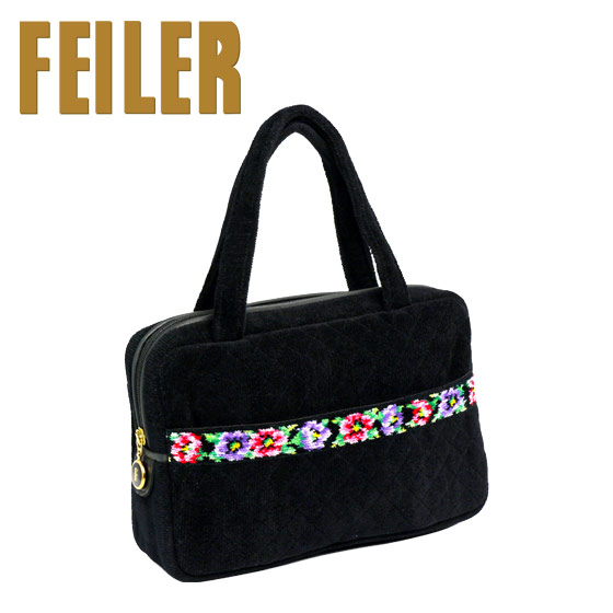 フェイラー バッグ ハンドバッグ TA8 アネモネ トート ブラック 花柄 FEILER Chenille Handbag Anemone Black ギフト・のし可