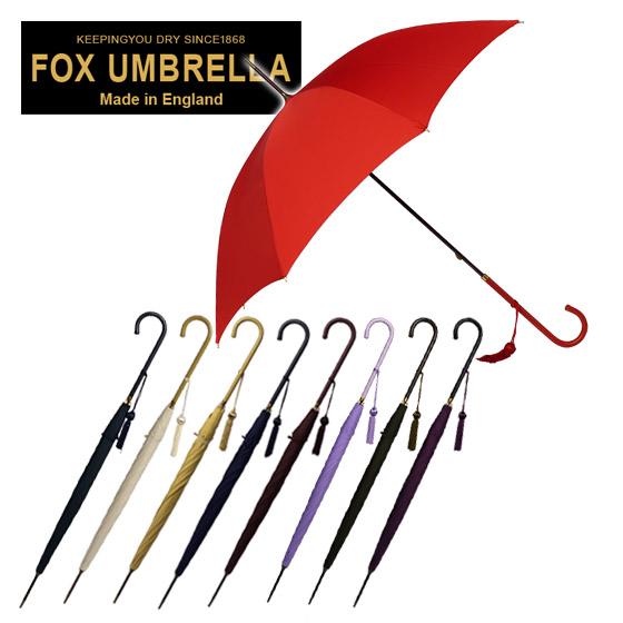 フォックスアンブレラズ FOX UMBRELLAS 傘 レディース WL1 スリムレザークルックハンドル 長傘 選べる9色 北海道・沖縄は別途945円加算
