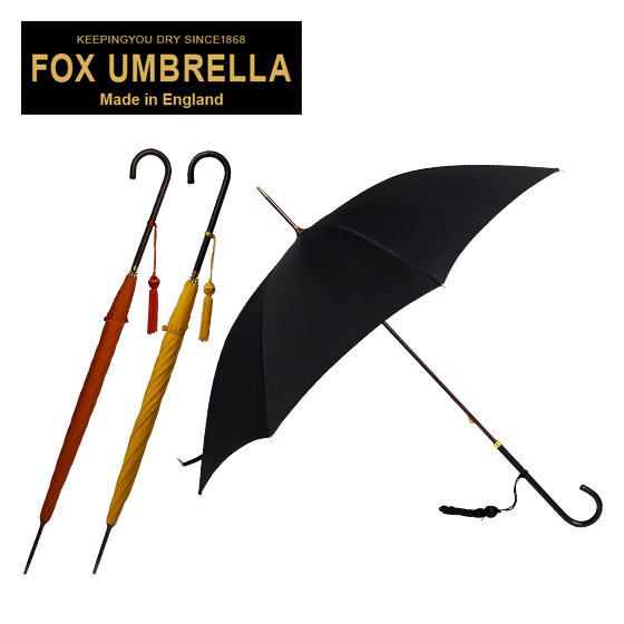 フォックスアンブレラズ FOX UMBRELLAS 傘 レディース WL1 スリムレザークルックハンドル 長傘 選べる3色 ブラック・イエロー・オレンジ 北海道・沖縄は別途945円加算