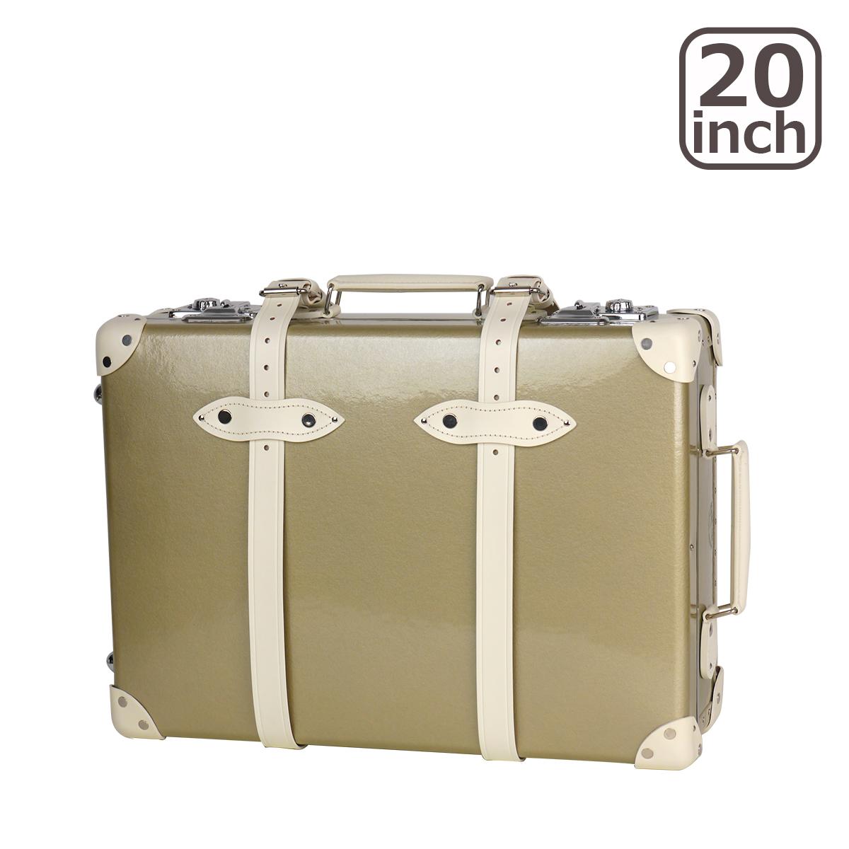 グローブトロッター ロワイヤル 20インチ CHAMPAGNE TROLLEY CASE スーツケース2輪 METALLIC GOLD & IVORY 北海道・沖縄は別途945円加算