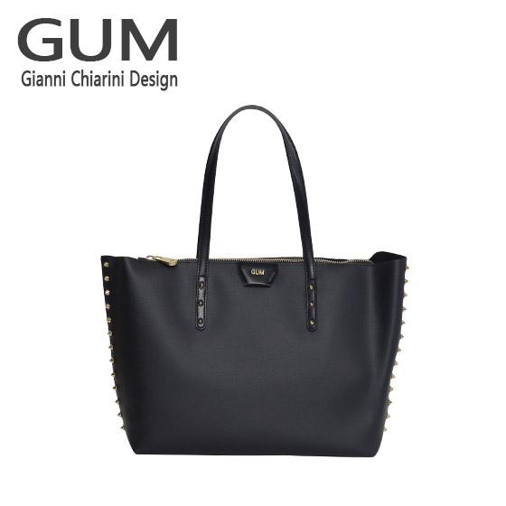 ジャンニキャリーニ トートバッグ GUM Gianni Chiarini Design BS 1714/18AI GUM GOLD ブラック 北海道・沖縄は別途945円加算