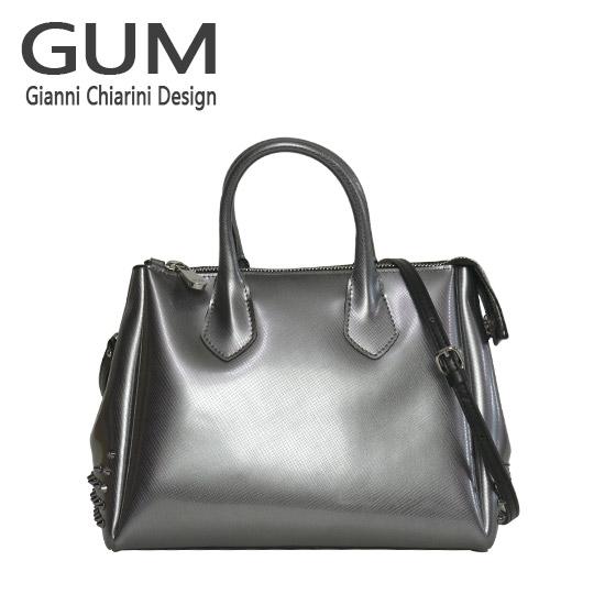 ジャンニキャリーニ 2WAY ショルダーハンドバッグ GUM Gianni Chiarini Design BS 1900T/18AI COLORSTUD グレー 北海道・沖縄は別途945円加算