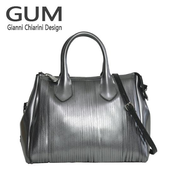ジャンニキャリーニ 2WAY ショルダーハンドバッグ GUM Gianni Chiarini Design BS 3700T/18AI GUM FR LM グレー 北海道・沖縄は別途962円加算