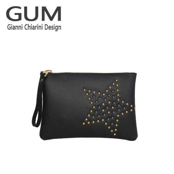 ジャンニキャリーニ クラッチバッグ GUM Gianni Chiarini Design BC 4052/18AI STAR STUD ブラック