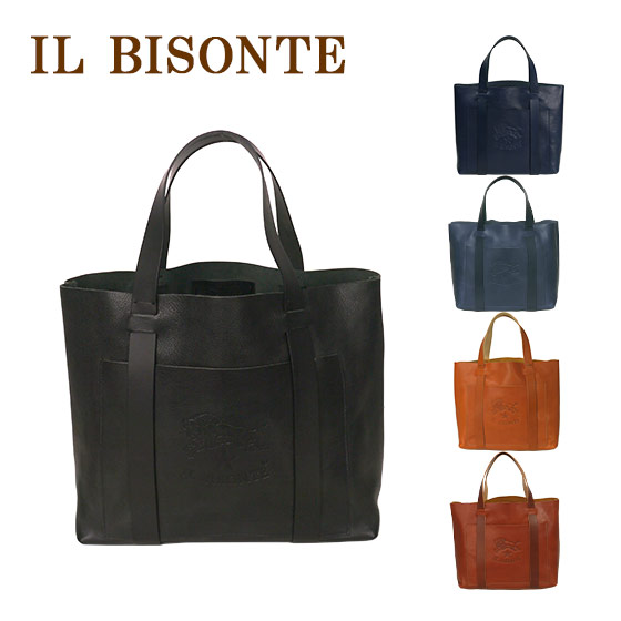 IL BISONTE イルビゾンテ A2591 トートバッグ 選べるカラー ビッグロゴ レディース